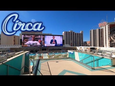 Circa Las Vegas 4K Walkthrough Tour 🤩 w/ Stadium Swim Pool
