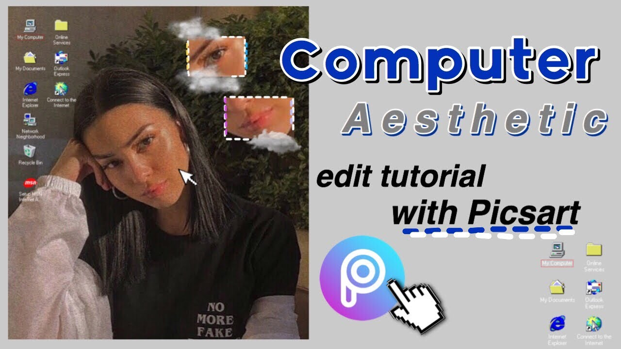 Computer Aesthetic Edit Only Using Picsart Tutorial Youtube