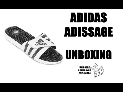32db140acf0d Chinelo Adidas Adissage   UNBOXING   Provávelmente o slider mais bonito que  vc vai encontrar