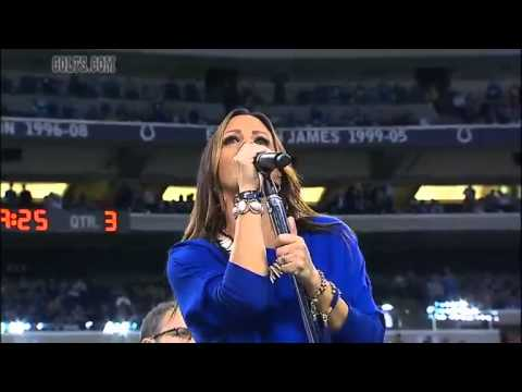 Sara Evans Halftime Performance on SNF Colts game Real Fine Place to Start 10/20/13