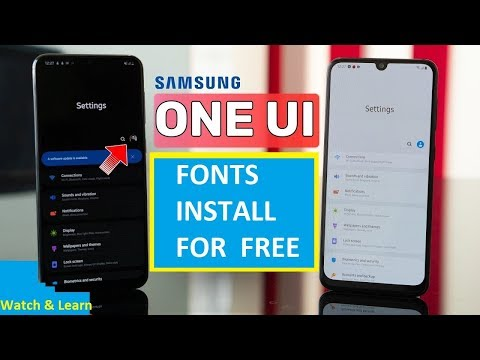How To Install Any Fonts For FREE In Samsung Galaxy A50, A70 And Any Samsung One UI Devices 2020