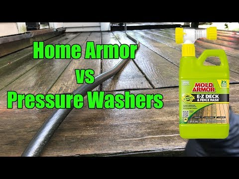 Home Armor Deck Wash vs Pressure Washer