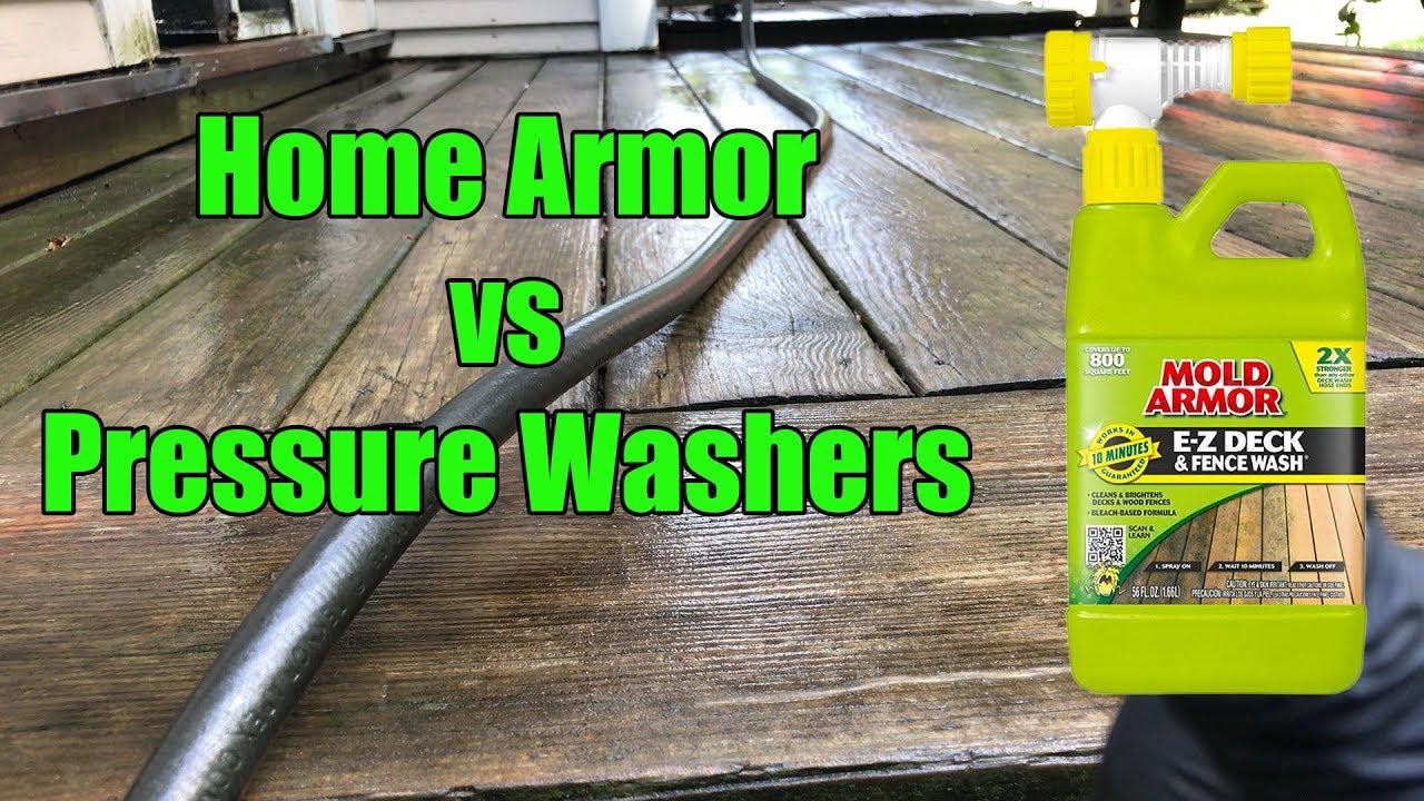Home Armor Deck Wash Vs Pressure Washer
