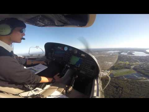 DA40 VFR Area Solo Port Macquarie Aussie w/ CTAF Radio
