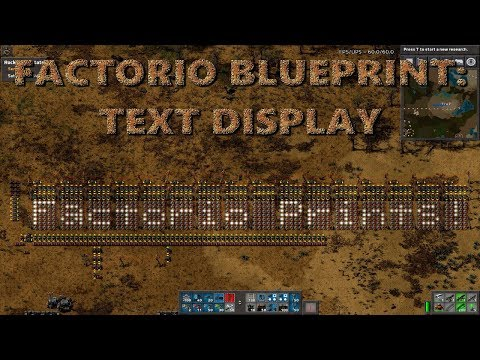Factorio Text Display