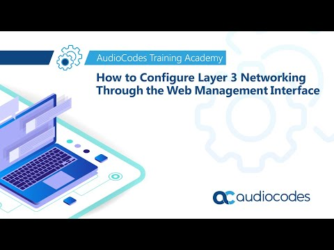 How to Configure Layer 3 Networking through the Web