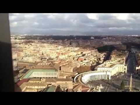 Air view to Rome and Vatican from Basilica St,Peter`s dome with Daniel Dimitrov