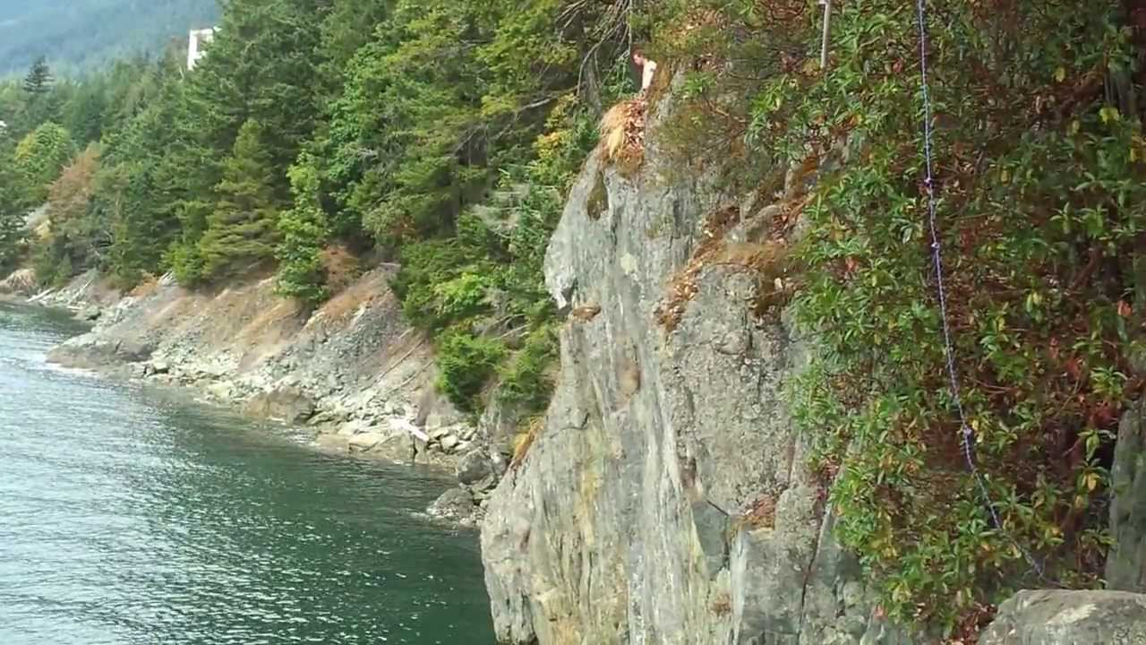 Lions bay cliff jumping