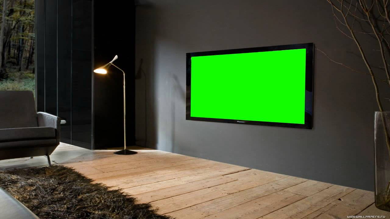 Television Room In Green Screen Youtube