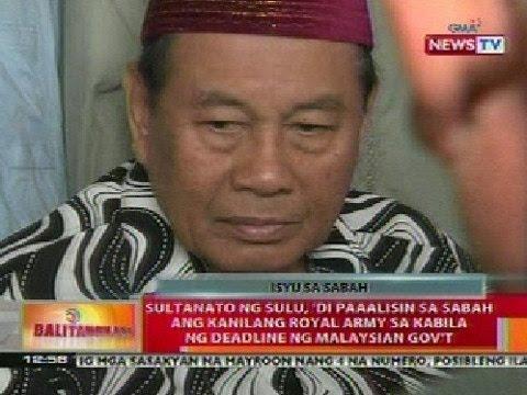 BT: Sultan ng Sulu, di paalisin sa Sabah ang royal army sa kabila ng deadline ng Malaysian gov