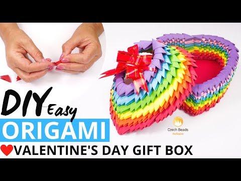 DIY Video Valentine's Day Paper Box Gift Idea 3D Origami Kits