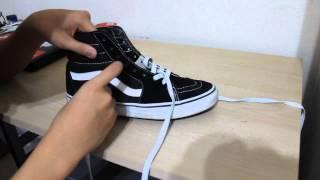 How To Lace Sk8 Hi's and Vans Eras/Authentics