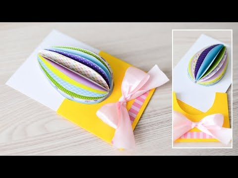 How to make : Spring Card with Easter Egg | Kartka Wielkanocna z Pisanką - Mishellka #284 DIY