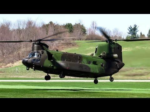 RCAF Boeing CH-147F Chinook Landing + Departing Ottawa- Gatineau (YND, CYND)