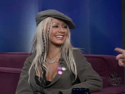 Christina Aguilera - The Daily Show With Jon Stewart In 2002 (HQ)