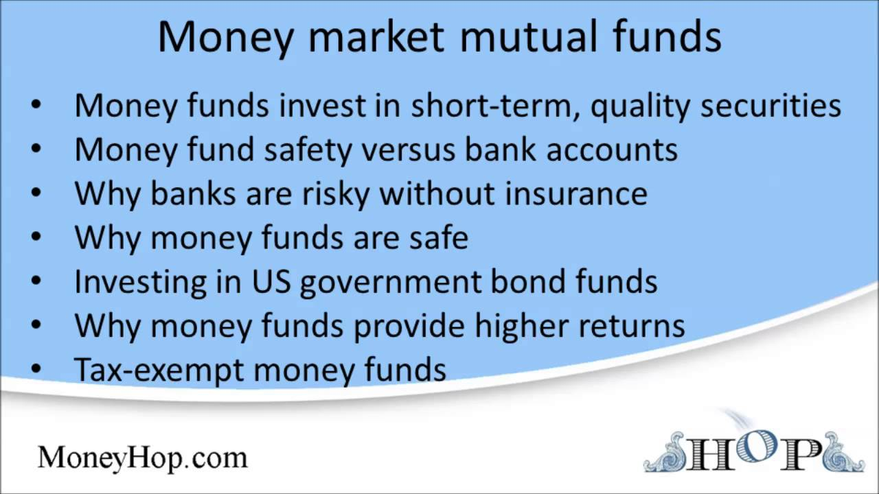 list of money market funds Money market mutual funds - YouTube