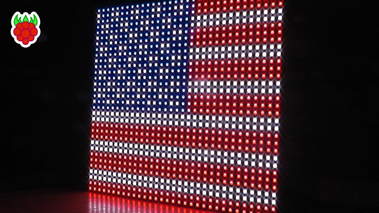32x32 RGB LED Matrix On The Raspberry Pi - Raspberry Pi Spy