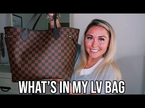WHAT'S IN MY LOUIS VUITTON NEVERFULL MM    what's in my purse 2019