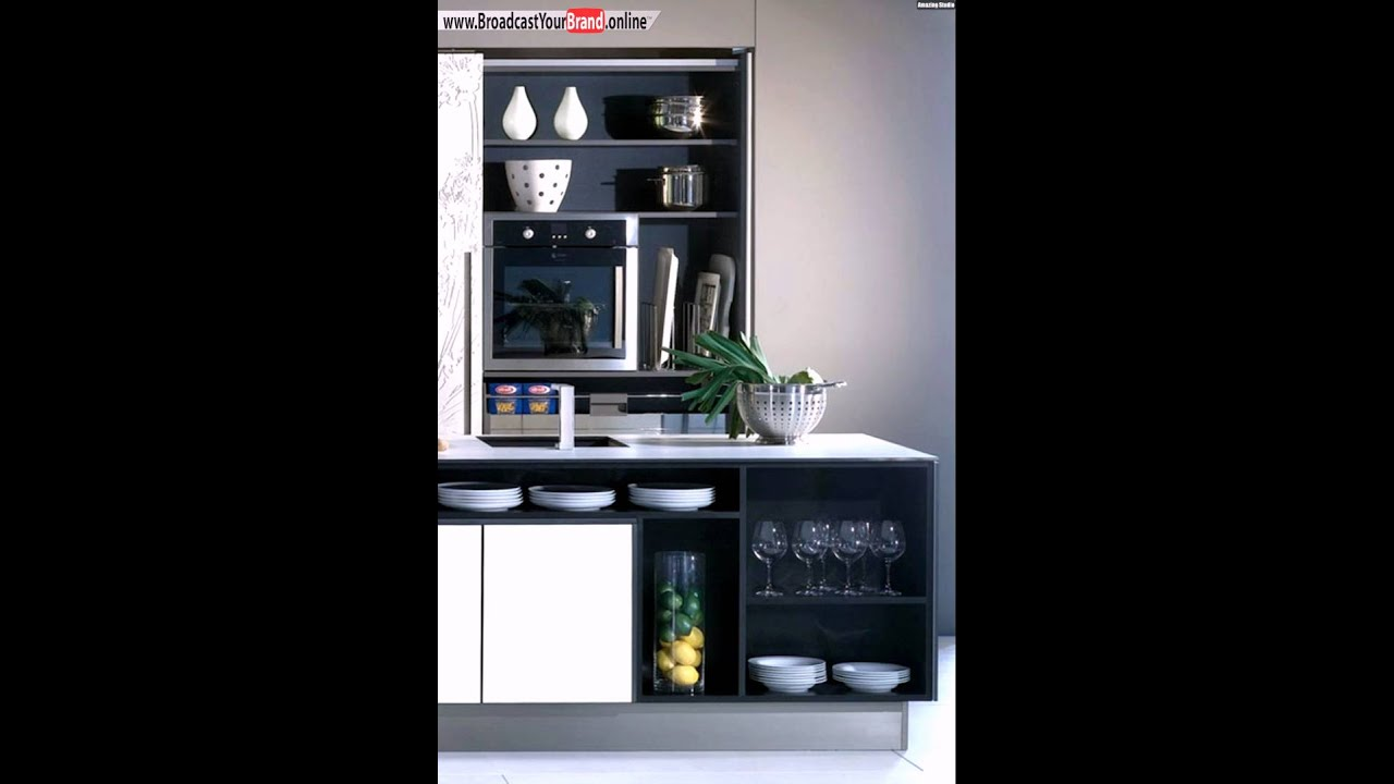 schwarz wei e stauraum ideen k che youtube. Black Bedroom Furniture Sets. Home Design Ideas