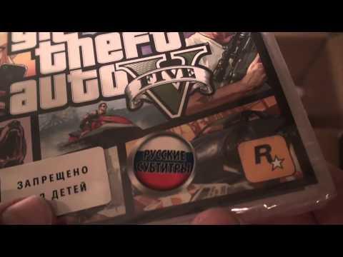 Распаковка Sony PlayStation 3 Super slim 500gb + GTA 5