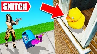 SNITCH to WIN in Fortnite PROP HUNT! (Hide & Seek)