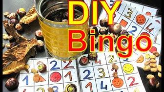 Mit Kindern basteln- Chestnut/Kastanien  Smiley Bingo selber machen DIY