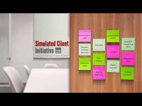 Simulated Client Initiative Innovative - Training for Legal Education