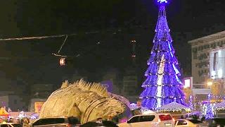 Ёлка электронная на площади свободы Харьков Новый Год 2016
