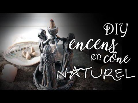 DIY⎜Encens en cône 100% naturel - Recette spéciale divination