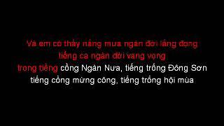 Về làm dâu sông mã karaoke Lê Anh Dũng