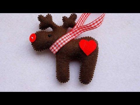 How To Make A Deer Christmas Ornament Of Felt - DIY Home Tutorial - Guidecentral