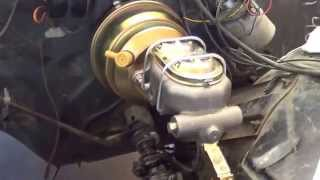 Jeff's Supernatural  Impala Master Cylinder & Power Booster Installed