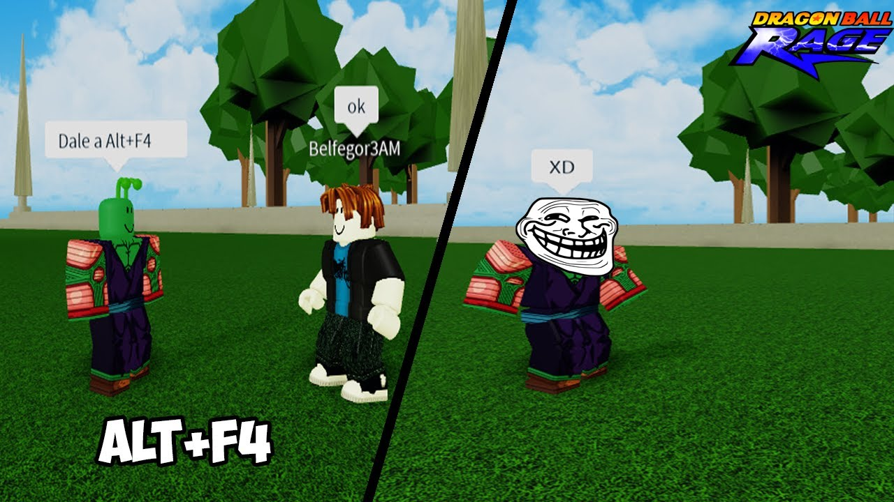 Alt + F4 Trolleo 😂| Dragon Ball Rage [Roblox]