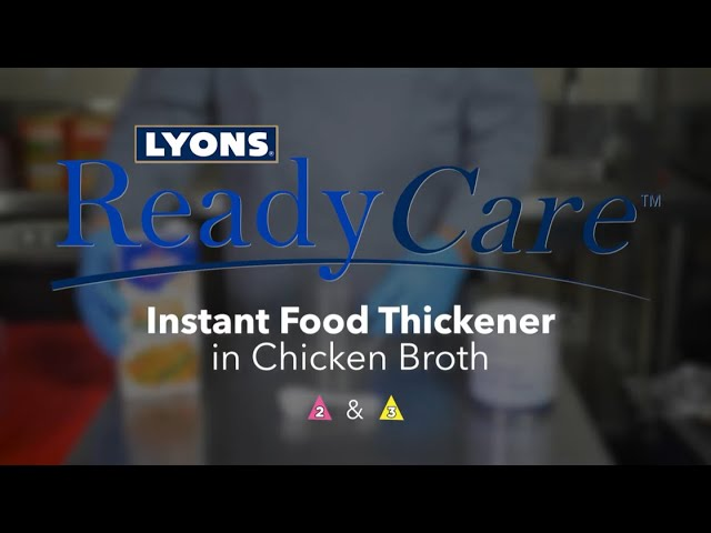 Instant Food Thickener in Chicken Broth