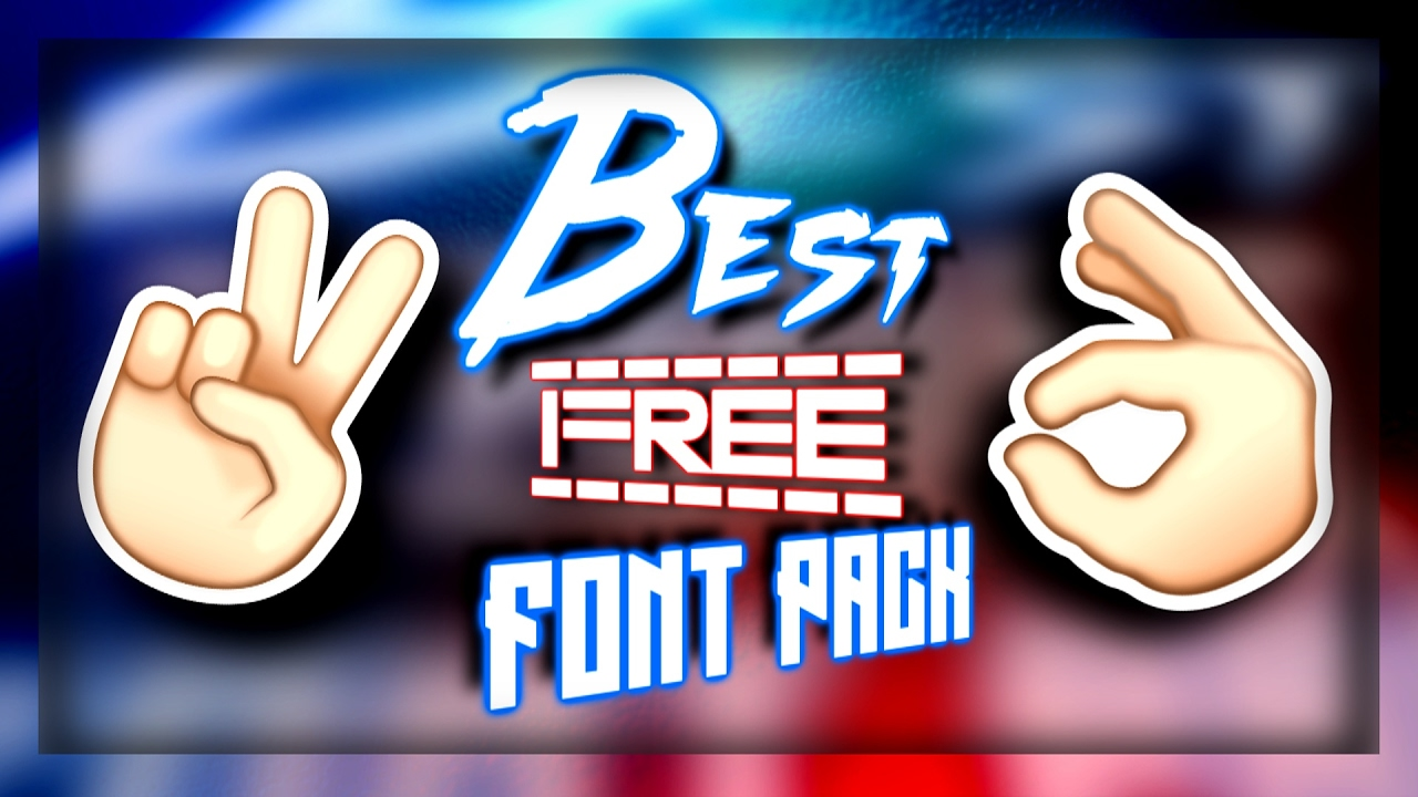 Download Best Free Font Pack - YouTube
