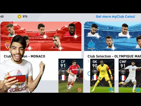 MONACO + OLYMPIQUE MARSEILLE Club selection Pack opening 🔥 pes 20 mobile