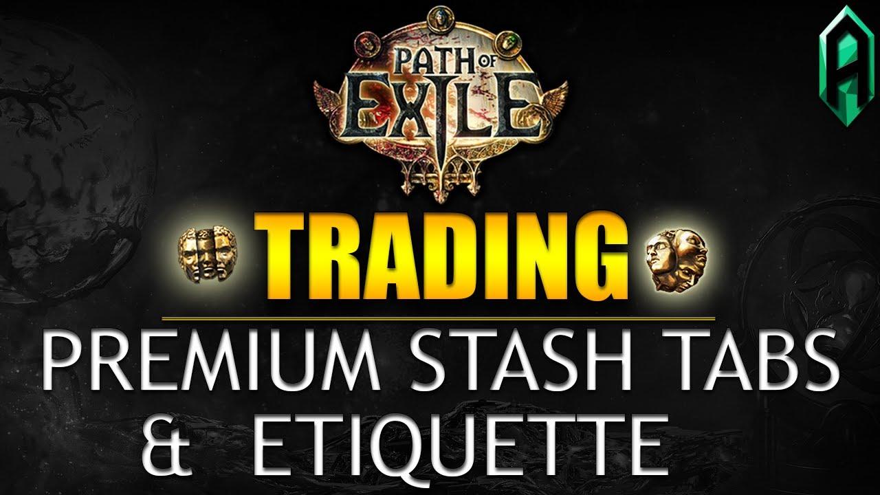 Poe premium stash tab trading