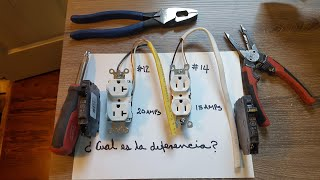 # 86   Que Diferencia entre Contactos de15 o 20 amps  ?