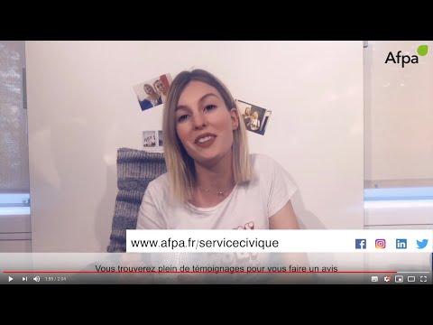 Laura en service civique a l'Afpa