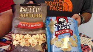 Kettle Brand Maple Bacon & Cracker Jack French Vanilla Popcorn