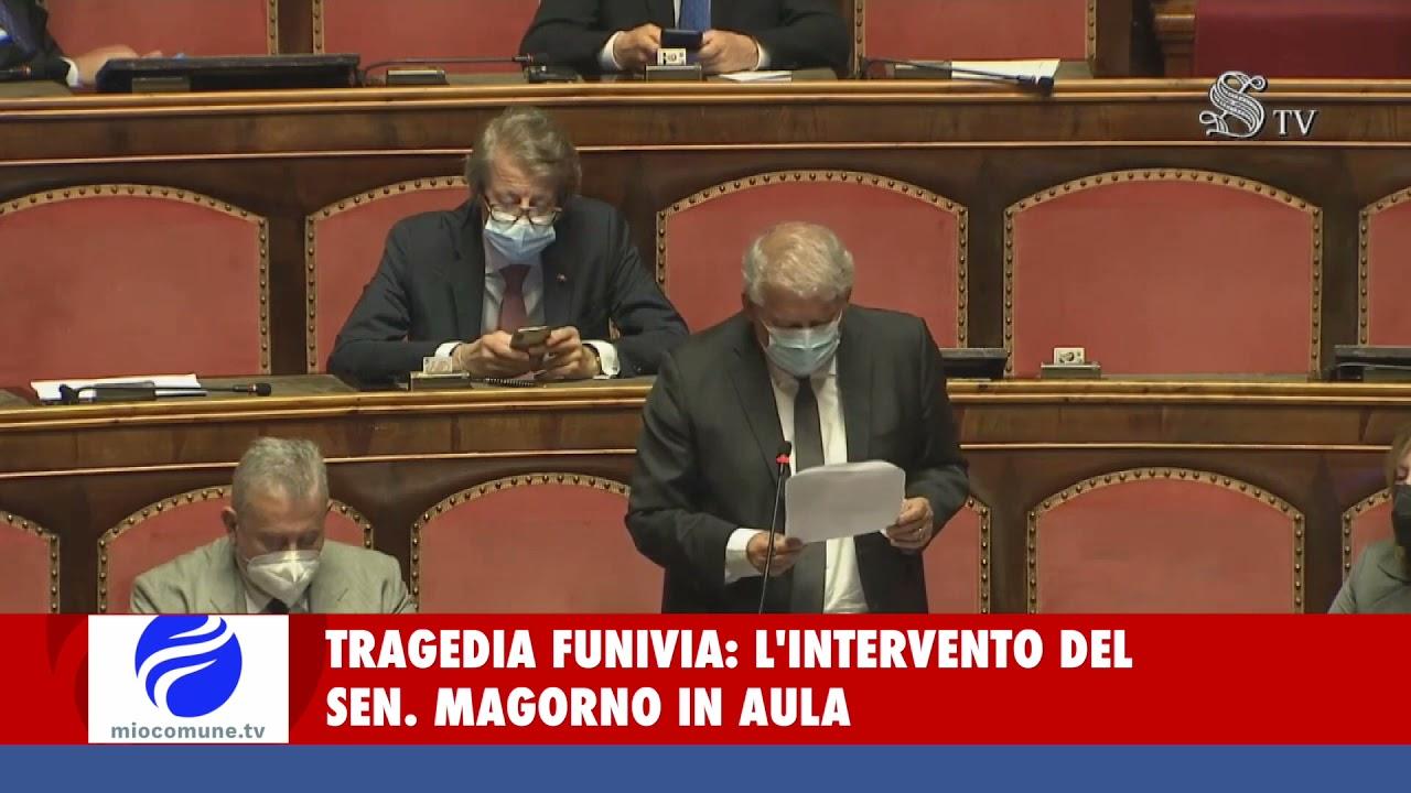 Tragedia funivia: la commozione dell'on. Magorno al Senato - VIDEO