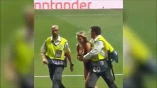 STREAKER IN  Uefa Champions league final Real Video. Nude Girl At Madrid. Kinsey Wolanski
