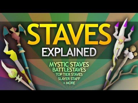Staves in OSRS (Best/Mystic/Battle/Tridents/Regular)