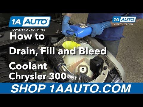 How to Drain, Fill & Bleed Radiator 05-10 Chrysler 300