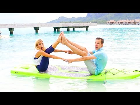 I Can't Believe We Tried This - Couples on a Paddle Board in the Ocean!