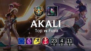 Akali Top vs Fiora - EUW Challenger Patch 8.24
