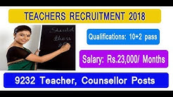 Teachers (DSSB ) Recruitment 2018 | 9232 Teacher, Counsellor Posts | Apply Before 31 Jan. 2018