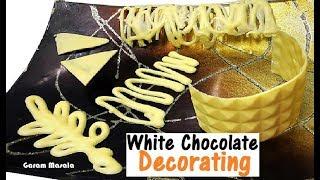കുറഞ്ഞ ചെലവിൽ കേക്ക് അലങ്കരിക്കാൻ White Chocolate Decorating / Making in home without mould