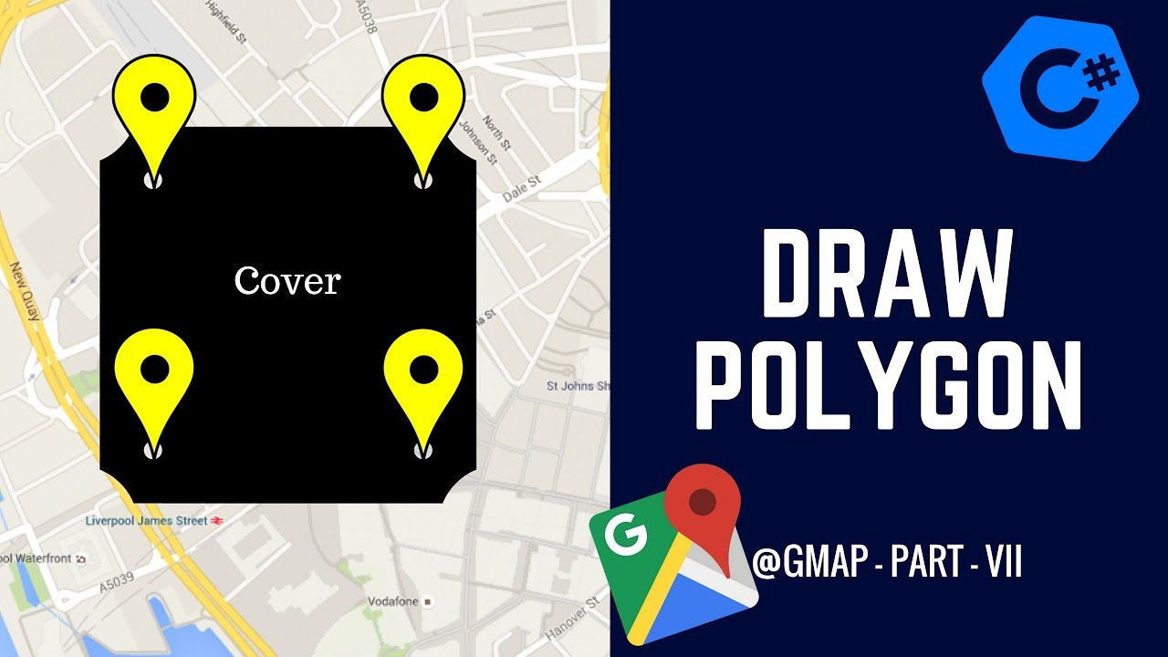 C# GMAP - How to Draw Polygon on your Map? - GMap Part VII