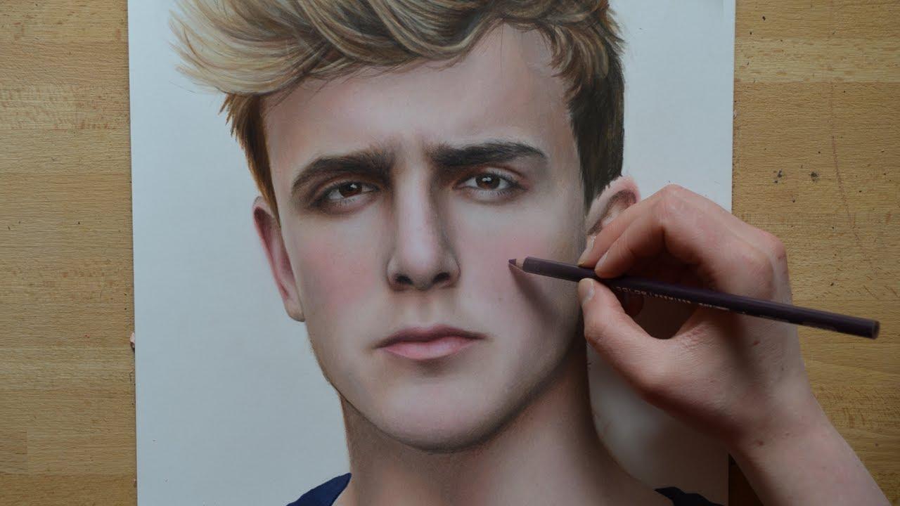 Drawing JAKE PAUL - SpeedDrawing | Nimauke - YouTube
